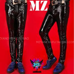 $enCountryForm.capitalKeyWord Canada - S-5XL 2018 New men's clothing singer fashion DJ DS Slim Superelastic paint leather pants trousers plus size costumes
