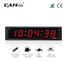 [Ganxin] freeshipping 1 pouce 6 chiffres Led compte à rebours chronomètre HH: MM: SS compte à rebours / up horloge avec télécommande horloge de bureau en Solde