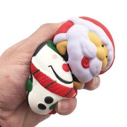 Christmas Panda Cartoon NZ - Christmas Squishy Slow Rebound Santa Claus Panda Snowman Squeeze Toys Christmas Tree For Xmas Gift 2018 New Kawaii