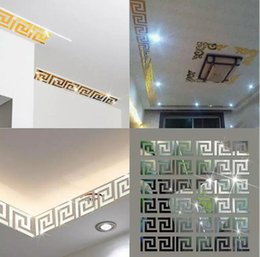 plastic labyrinth 2019 - 100pcs lot Puzzle Labyrinth Acrylic Mirror Wall Decal Art Stickers Home Decor 3 Colors Free Shipping cheap plastic labyr