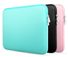 """Macbook Retina 13 Inches Australia - NewLaptop Sleeve 15 14 12 11 Inch 15.6'' for MacBook Sleeve Air Pro Retina Display 12.9"""" iPad Soft Case Cover Bag for Apple Samsung Notebook"""