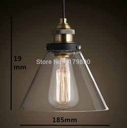 Discount cafe style lights - Retro Vintage Industrial Style Edison Glass Ceiling Light Lamp For Bedroom Living Room E27 Home Restaurant Cafe Decorati
