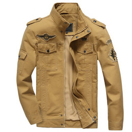 Hot air jacket online shopping - Men Jacket Jean Military Plus xl Army Soldier Cotton Air Force Male Brand Clothing Spring Autumn Mens Jackets Hot Male