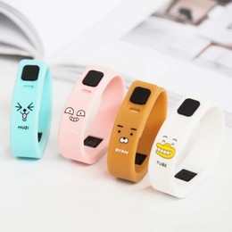 $enCountryForm.capitalKeyWord Canada - South Korean stationery mike and your friend creative cute electronic silica gel watch makaron LED bracelet