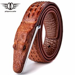 $enCountryForm.capitalKeyWord NZ - Plyesxale Brand Mens Belts Luxury Leather Designer Belt Men High Quality Ceinture Homme Crocodile Cinturones Hombre 2018 B2 D18102905