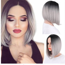 Ombre Hair Grey Black Short Australia New Featured Ombre Hair Grey