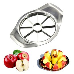 apple slice cutter NZ - 300pcs lot Stainless steel apple slicer Vegetable Fruit Apple Pear Cutter Slicer Processing Kitchen slicing knives Utensil Tool