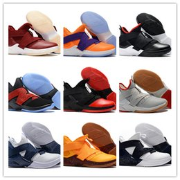 Basketball Sneakers Popular Canada - 2018 New Arrive Soldier 12 XII EP Black Gold SVSM Home Camouflage ICE Blue Basketball Shoes New Mens 12s Sports Popular Sneakers SIZE 40-46