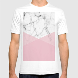 $enCountryForm.capitalKeyWord Australia - 2018 new t shirt Real White marble Half Rose Pink Modern Shapes shirt