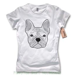 Kimono European Style NZ - Women's Tee Ladies T-shirt - French Bulldog - French Bulldog Cotton White S M L Xl European Style Hip Hop S-xl