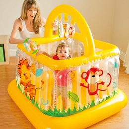 $enCountryForm.capitalKeyWord Canada - trampoline inflatable bouncer bouncy castle jumping bed Inflatable baby Trampoline with Enclosure Net