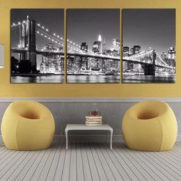$enCountryForm.capitalKeyWord Australia - 3 Pcs New York Brooklyn Bridge Posters And Prints Home Decor Wall Art Picture Canvas Painting Cuadros Decocation No Frame