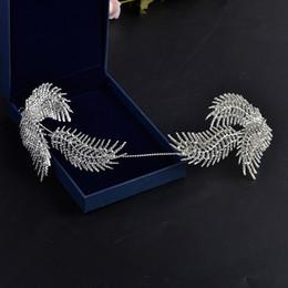 $enCountryForm.capitalKeyWord NZ - New Design Rhinestone Feather Tiara Hairband Head Jewelry Wedding Bride Tiaras Crown Wedding Hair Ornaments Headpieces