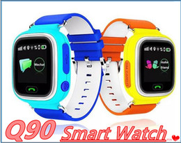 Gps Kid Tracker Phone NZ - Q90 Kids Bluetooth Smartwatch Q 90 Smart Watch For Child IPhone Android Smart Phone with GPS Tracker WiFi LBS Wearable Device MQ10
