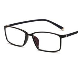 dcb4eee715 2018 New Square tr90 Eyeglasses Frame with coating lens Men Women Optical  Plain Mirror Eye Glasses Frames for Myopia glasses oculos de grau