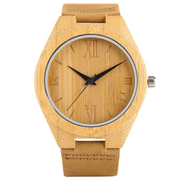 Simple Wood Mens Watches Arabic Numerals Handmade Wooden Watch Gifts For Man Wristwatches Quartz Clock Hour