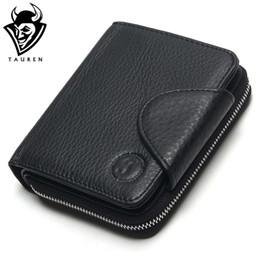 fba50e60420 Man Big Wallet Australia - TAUREN 100% Genuine Leather Cowhide Men Black  Coin Purse Card