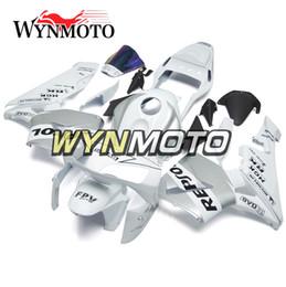 Honda F5 Canada - Motorcycle Silver White Bodywork ABS Injection Bodywork For Honda CBR600RR F5 Year 2003-2004 03-04 Complete Fairing Kit Body Kit