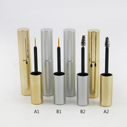 empty eyeliner Australia - New design 360 lot 8ml Empty UV Gold Silver Mascara Tube Eyelash Vial Liquid Bottle Portable 8cc Lipstick Tube Eyeliner Bottle
