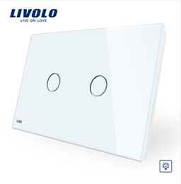Lighted Light Switches Australia - Livolo Ivory White Crystal Glass Panel, AU US standard Wall Switch, VL-C902D-11,Dimmer Touch Home Wall Light Switch