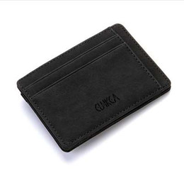 Chinese  Hot Sale Multifunction Fashion Unisex Women Men PU Leather Purse Clutch Wallet Simple Card Holder Bag ID Credit Card Coin Holder manufacturers
