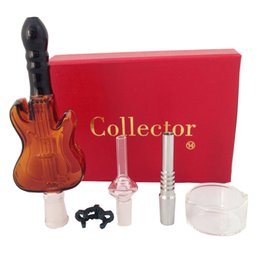 $enCountryForm.capitalKeyWord UK - Nectar Collector 14mm Guitar glass kit with guitar Glass Honeycomb Glass in red color box with clip inside DHL free to USA