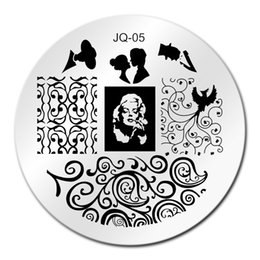 China Monroe Projection Nail Art Stamping Template Image Plate JQ05 Nail Plates Manicure Stencil Set For 3D Steel Stamping supplier 3d nail art template suppliers