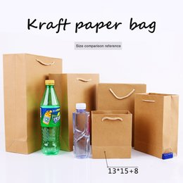 $enCountryForm.capitalKeyWord UK - 13*15cm+8cm Portable Thicken solid Kraft paper Custom-made clothing gift shopping package Takeaway Corporate advertising Standing bag