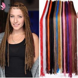 $enCountryForm.capitalKeyWord Australia - Bohemian Style Long micro box braiding hair 30inch Crochet 3S Box Braid Hair 18 colors Synthetic Hair Extensions Zizi Twist for black women