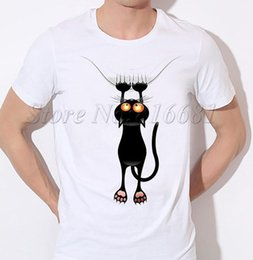 Kitten Shirts Australia - Little Black Kitten Grab Wall Pawn Down Climb Funny Joke Men T Shirt Tee