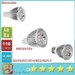 Dimmable E14 Energy Saving Bulb Canada - Dimmable Led Light Spotlight 15W GU10 E27 E14 B22 GU5.3 85V-265V MR16 12V Energy Saving Led bulbs Lamp
