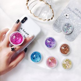 mixed grasses Australia - Newly Liquid Glitter movil Phone Holder Rotatable Mobile Phone mount Holder Stand For Iphone Samsung xiao Tablet stand