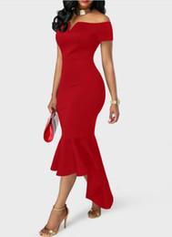 $enCountryForm.capitalKeyWord UK - 2018 free shipping Explosion models Europe and the United States V collar strapless short-sleeved dress tuxedo skirt dress Party Dresses tyt