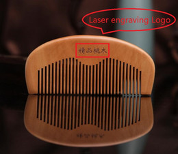 $enCountryForm.capitalKeyWord Australia - 200Pcs Customized LOGO Combs Engraved Logo Natural Wood Comb Beard Comb Wooden Comb Carve Your Name Grooming Business Promotion Gifts