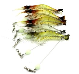 Hard Bait Shrimp Australia - SO028 100PCS Shrimp Soft Lure 7.5cm 6g Fishing isca Artificial Bait With Hook Fishing Lure