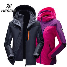 $enCountryForm.capitalKeyWord NZ - Winter Jacket Women Outdoor Hiking 3 in 1 Men Fleece Coat Couples Sport Hunting Clothes Waterproof Heated Windbreaker Camping Y1893006