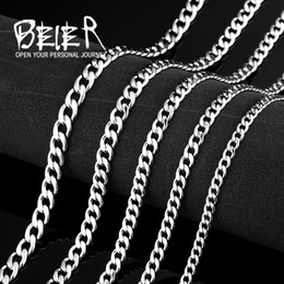 water wave chain NZ - whole saleWholesale Cheap Stainless Steel Water Wave Chain Necklace For Man Woman Super Quality BN1025