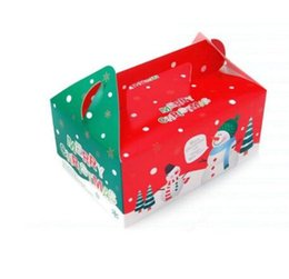 gingerbread cookies wholesale UK - 200 pcs lot Christmas Box Gingerbread Cookie Apple Storage Boxes Cake Biscuit Candy Packaged Free Shipping