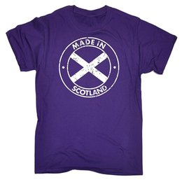 Wholesale T Shirts O Neck Funny Short Sleeve Mens Made In Scotland Flag T Shirt