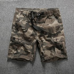 Military Camouflage Clothing NZ - Cargo Shorts Men Cool Camouflage Summer Hot Sale Cotton Casual Men Short Pants Brand Clothing Comfortable Camo Men Cargo Shorts