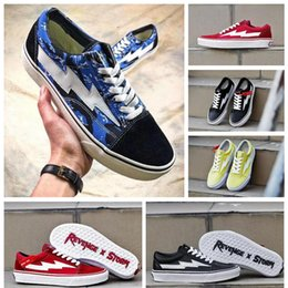 2018 VANS Revenge X Storm Pop-up Store Old Skool Skateboard Shoes Women Men Low Cut Designer Vans Shoe Canvas Casual Sneakers 36-44