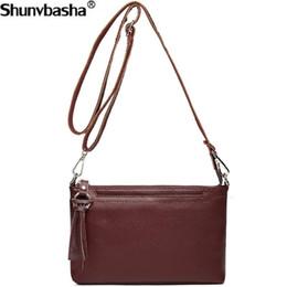 Multi Color Ladies Handbags Australia - Luxury Brand Women Shoulder Bags Genuine Leather TopHandle Bags Ladies Tote Female Messenger High Quality Women's Handbags