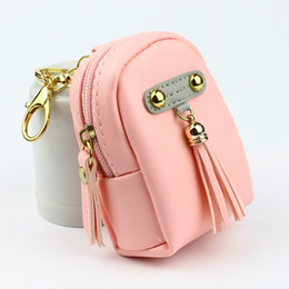 mini gold coins UK - Tassels Rivet Coin Purse Women Wallets Lady Purses Zipper Moneybags Girls Mini Wallet Burse Cards Bags Gold Keychain Pocket Notecase