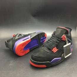 b3802c176f7 Authentic 2018 Hottest Sale 4 NRG Raptors 4S Basketball Shoes Sneakers for  Man High-Top Quality Black University Red Court Purple AQ3816-056