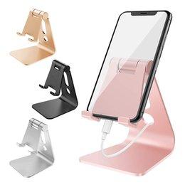 Masaüstü Ayarlanabilir Alüminyum Cradle iPhone Samsung Smartphone Tabletler Için Cep Telefonu Standı Tutucu 4-13 Inç Evrensel Dock Montaj