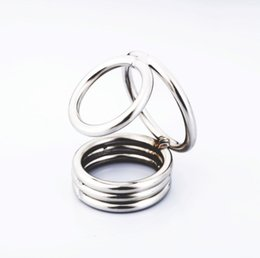 Balls Bra Australia - Weighted Ball stretcher Stainless Steel Sex toy Cobra cock cage male sex toy cock ring hot selling with 3rings
