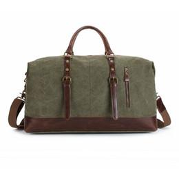91f0ea3a4333 Vintage Large Capacity Travel Bag Men Hand Luggage Travel Duffle Bag Canvas  Weekend Multifunctional handBags for male