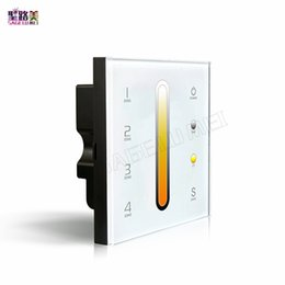 Color Temperature Controller Australia - High quality LTECH DX6 Touch Led Color temperature Panel Controller AC100V-240V Led DMX512 2.4G RF 4zones control Panel Dimmer