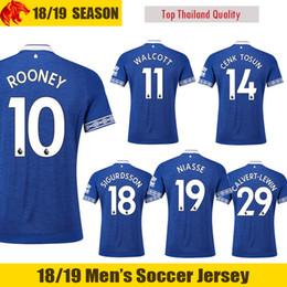 18 19 Everton Soccer Jerseys ROONEY 2018 2019 CALVERT-LEWIN Everton NIASSE Football  Shirts WALCOTT Everton Jersey CENK TOSUN Soccer Shirt e22e83f55