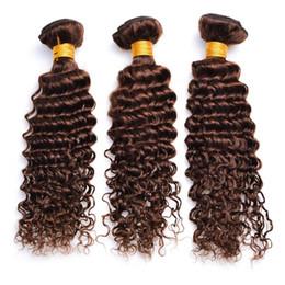 El pelo marrón de la onda profunda teje la extensión   4 del pelo marrón  medio e51923b65bfa